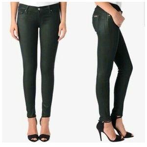 HUDSON   NWOT Krista coated super skinny jeans